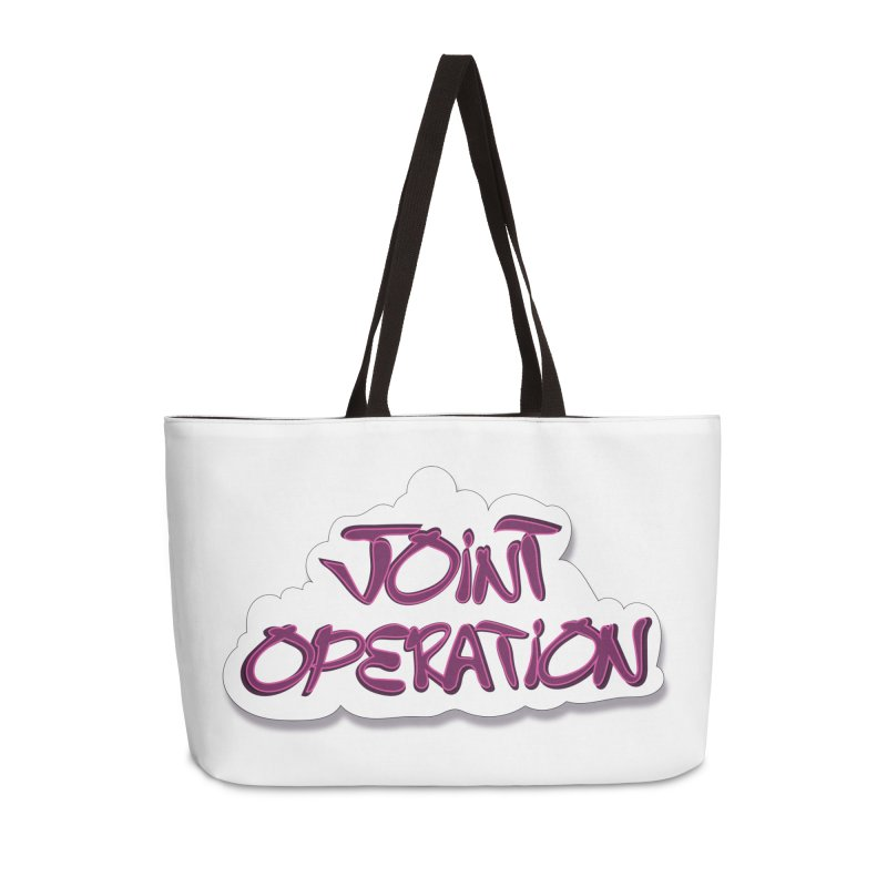 Joint Operation Clouds Accessories Weekender Bag Bag by MD Design Labs's Artist Shop