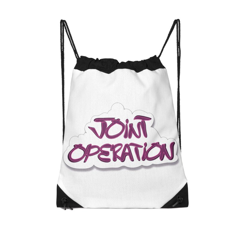 Joint Operation Clouds Accessories Drawstring Bag Bag by MD Design Labs's Artist Shop