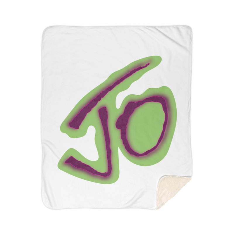 Joint Operation Purp and Guac Yo Home Sherpa Blanket Blanket by MD Design Labs's Artist Shop