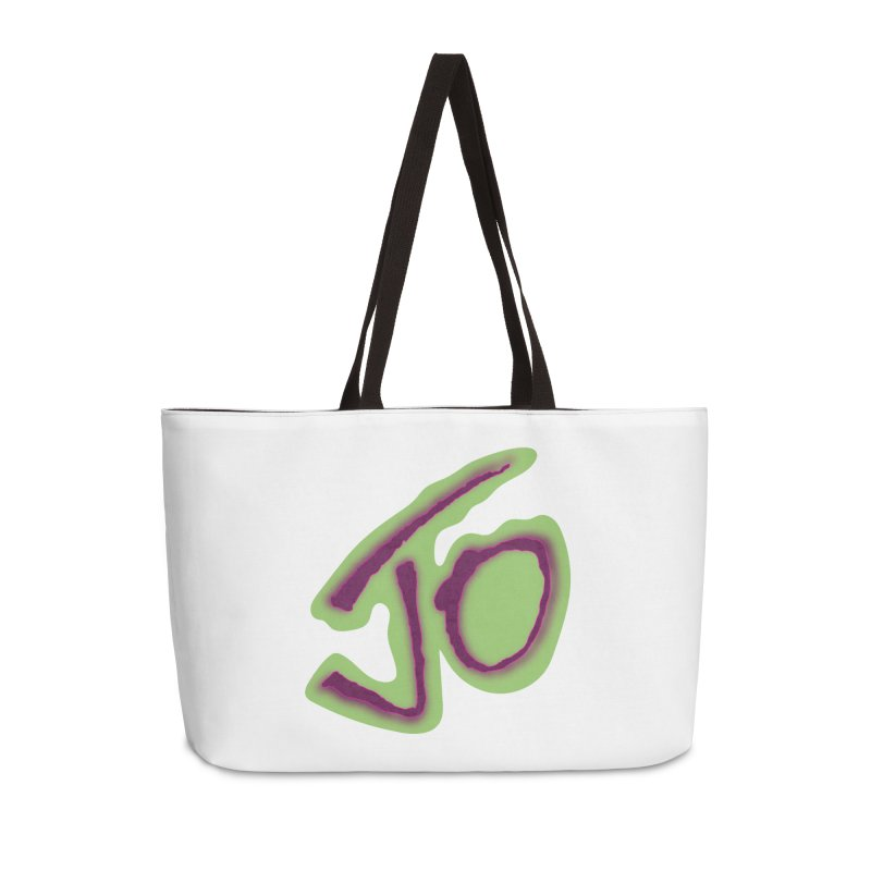 Joint Operation Purp and Guac Yo Accessories Weekender Bag Bag by MD Design Labs's Artist Shop