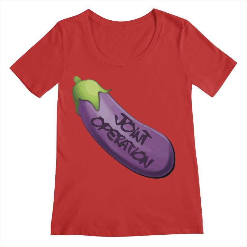 Joint Operation Egg Plant Women's Regular Scoop Neck by MD Design Labs's Artist Shop