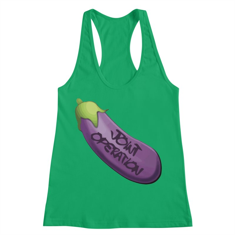 Joint Operation Egg Plant Women's Racerback Tank by MD Design Labs's Artist Shop
