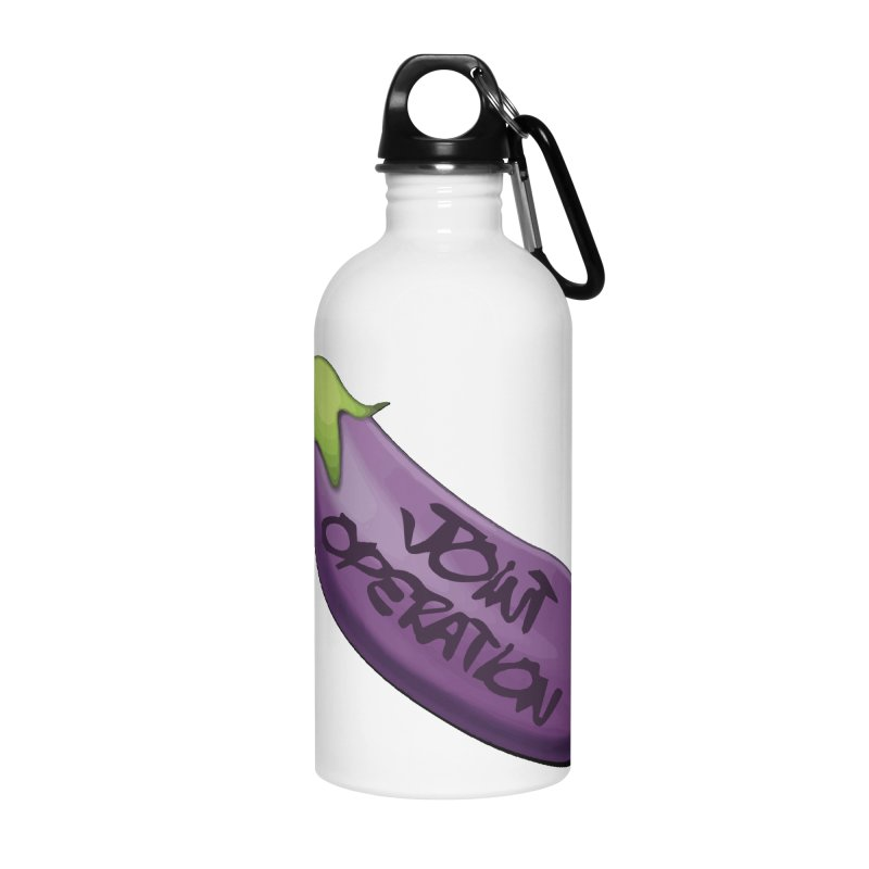 Joint Operation Egg Plant Accessories Water Bottle by MD Design Labs's Artist Shop