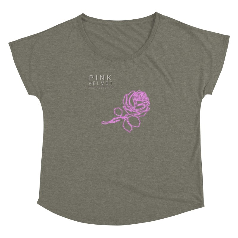 Pink Velvet - Joint Operation Single Women's Dolman Scoop Neck by MD Design Labs's Artist Shop