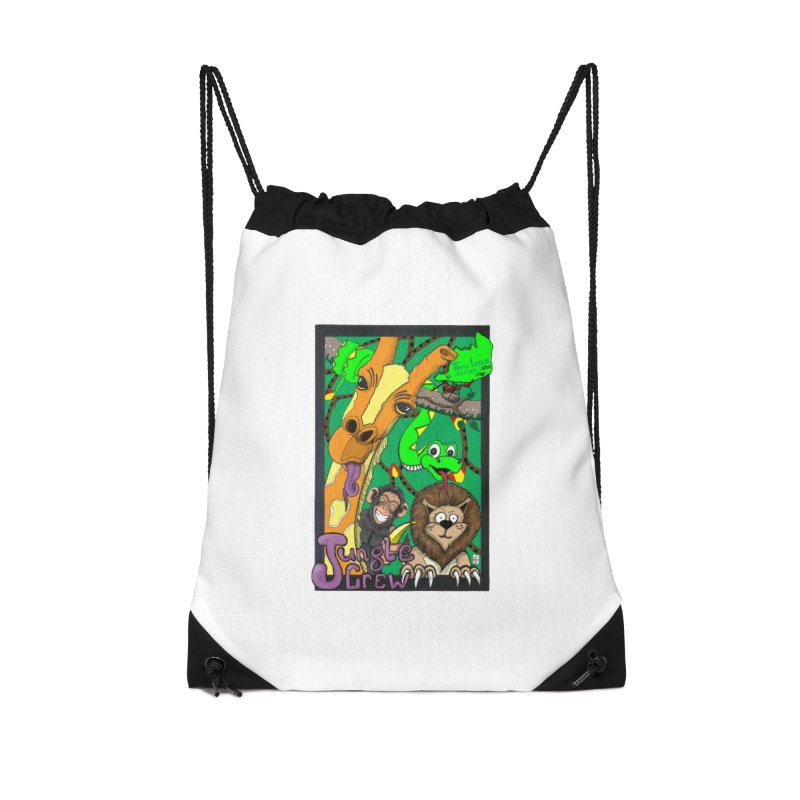 Jungle Crew Accessories Drawstring Bag Bag by MD Design Labs's Artist Shop