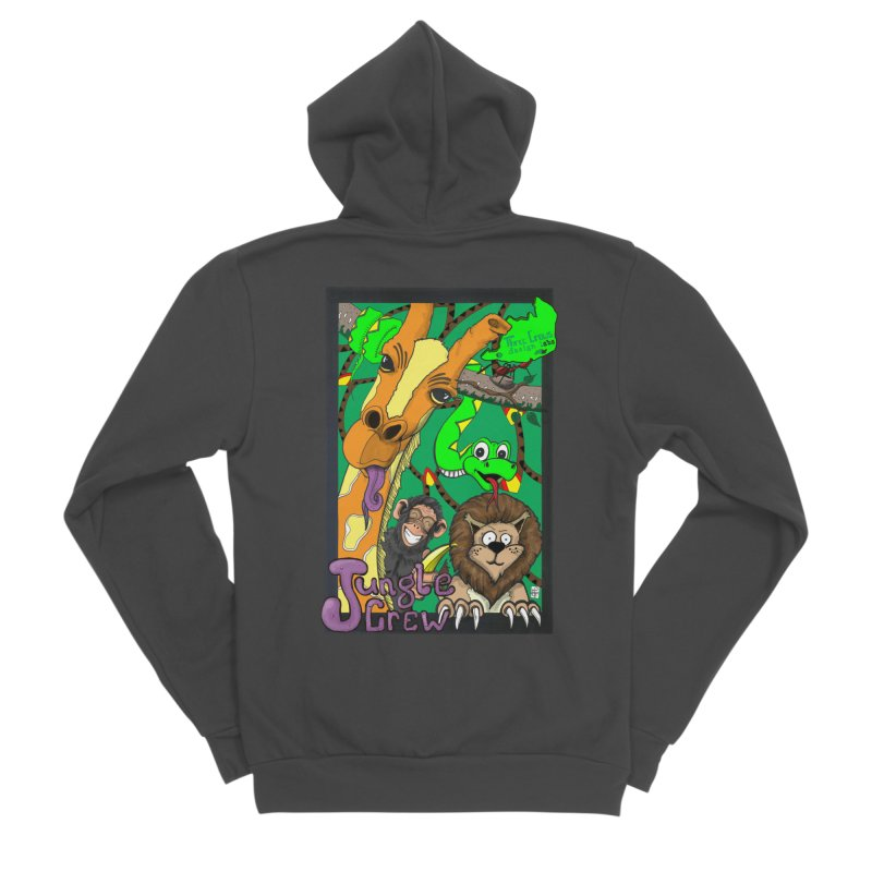 Jungle Crew Men's Sponge Fleece Zip-Up Hoody by MD Design Labs's Artist Shop