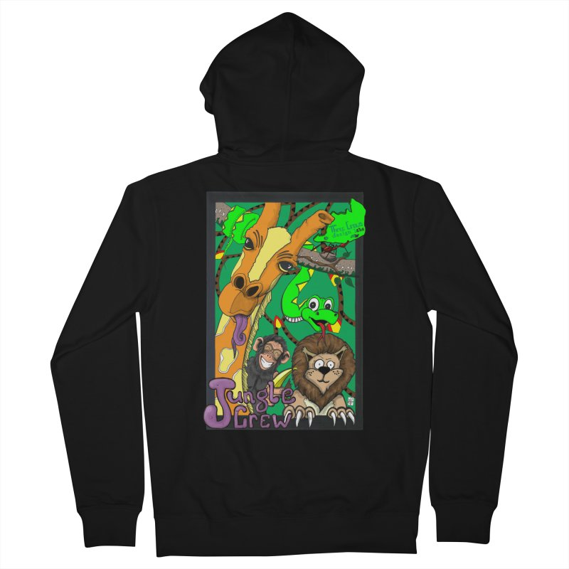 Jungle Crew Men's French Terry Zip-Up Hoody by MD Design Labs's Artist Shop