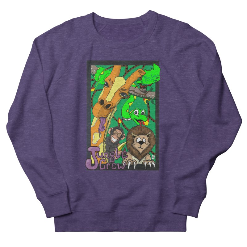 Jungle Crew Men's French Terry Sweatshirt by MD Design Labs's Artist Shop