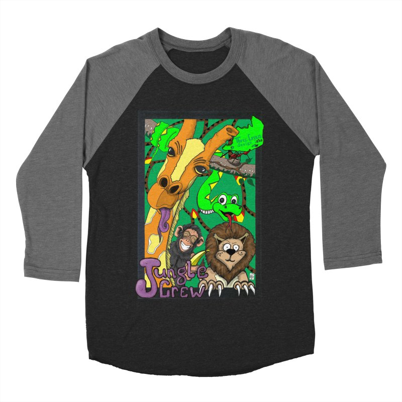 Jungle Crew Women's Baseball Triblend Longsleeve T-Shirt by MD Design Labs's Artist Shop