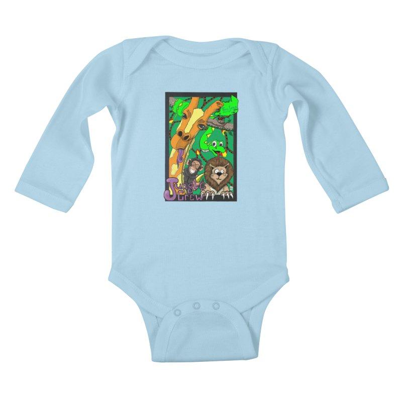 Jungle Crew Kids Baby Longsleeve Bodysuit by MD Design Labs's Artist Shop