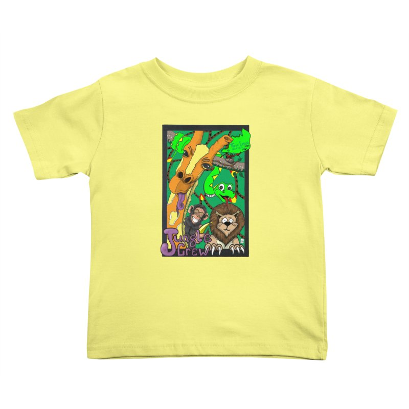 Jungle Crew Kids Toddler T-Shirt by MD Design Labs's Artist Shop