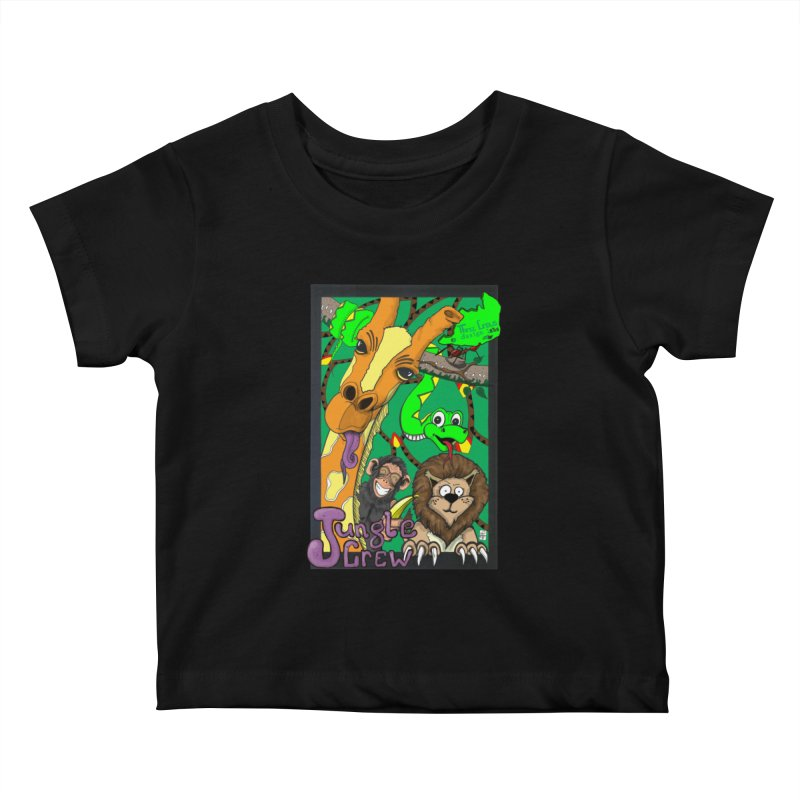 Jungle Crew Kids Baby T-Shirt by MD Design Labs's Artist Shop