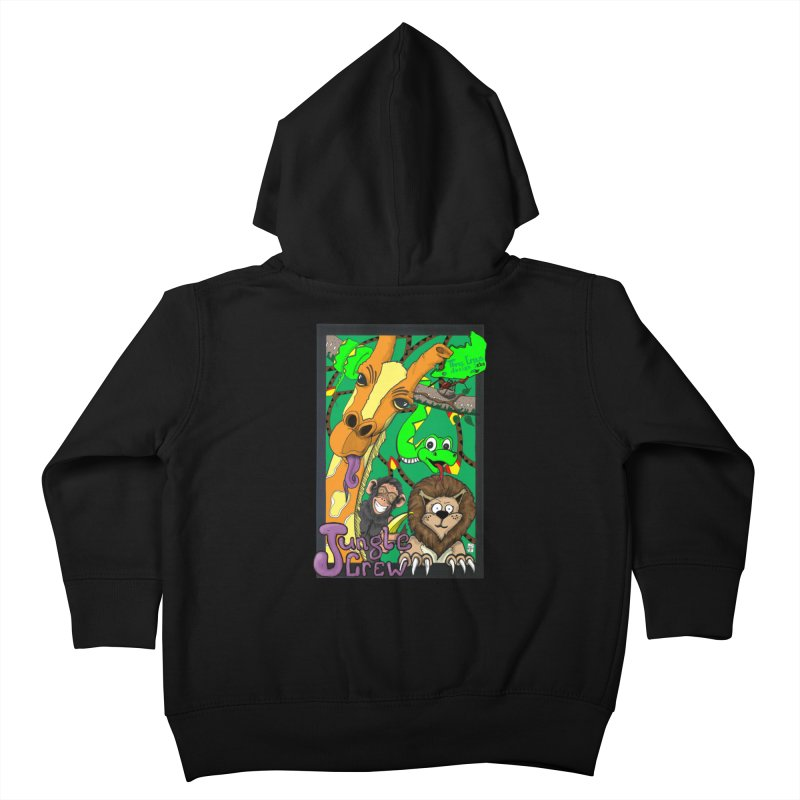 Jungle Crew Kids Toddler Zip-Up Hoody by MD Design Labs's Artist Shop