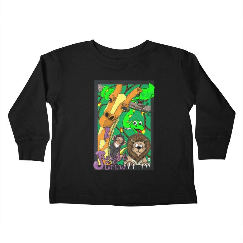 Jungle Crew Kids Toddler Longsleeve T-Shirt by MD Design Labs's Artist Shop