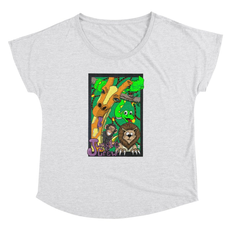 Jungle Crew Women's Dolman Scoop Neck by MD Design Labs's Artist Shop