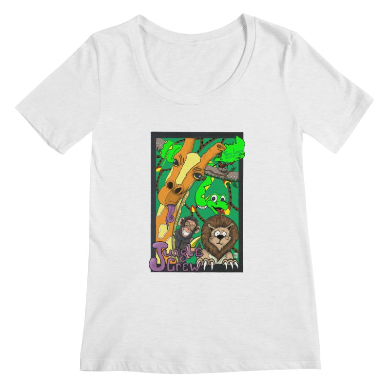 Jungle Crew Women's Regular Scoop Neck by MD Design Labs's Artist Shop