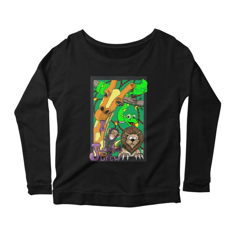 Jungle Crew Women's Scoop Neck Longsleeve T-Shirt by MD Design Labs's Artist Shop