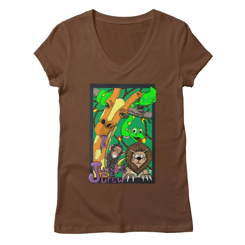Jungle Crew Women's Regular V-Neck by MD Design Labs's Artist Shop
