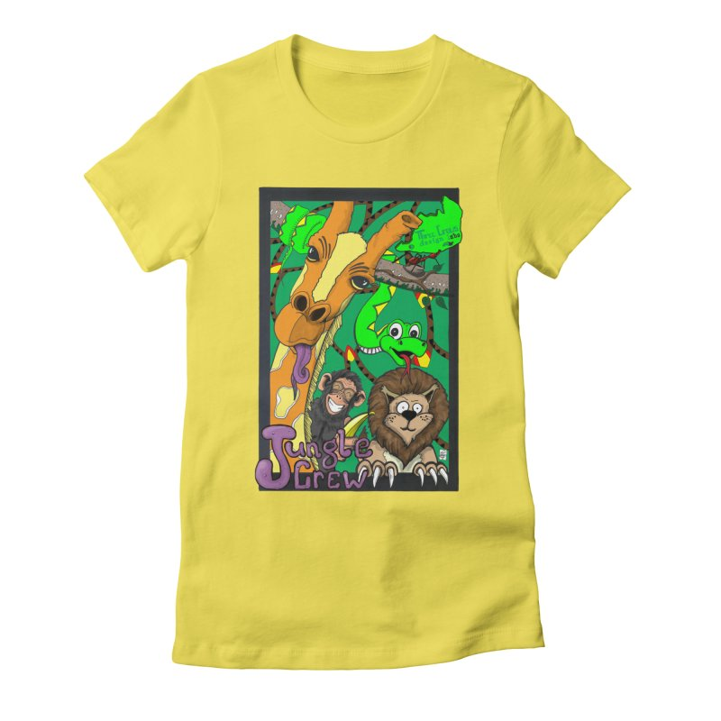Jungle Crew Women's Fitted T-Shirt by MD Design Labs's Artist Shop