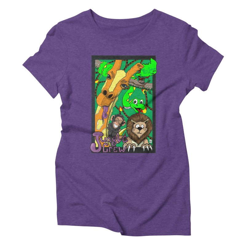 Jungle Crew Women's Triblend T-Shirt by MD Design Labs's Artist Shop
