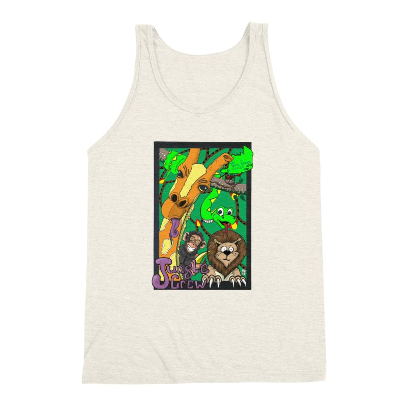 Jungle Crew Men's Triblend Tank by MD Design Labs's Artist Shop