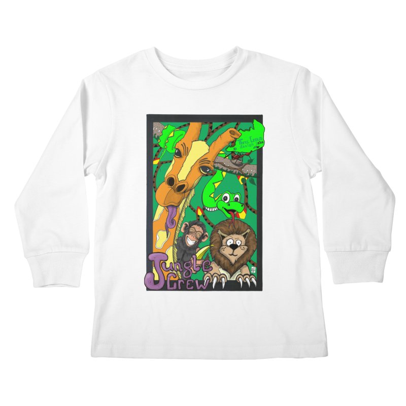 Jungle Crew Kids Longsleeve T-Shirt by MD Design Labs's Artist Shop