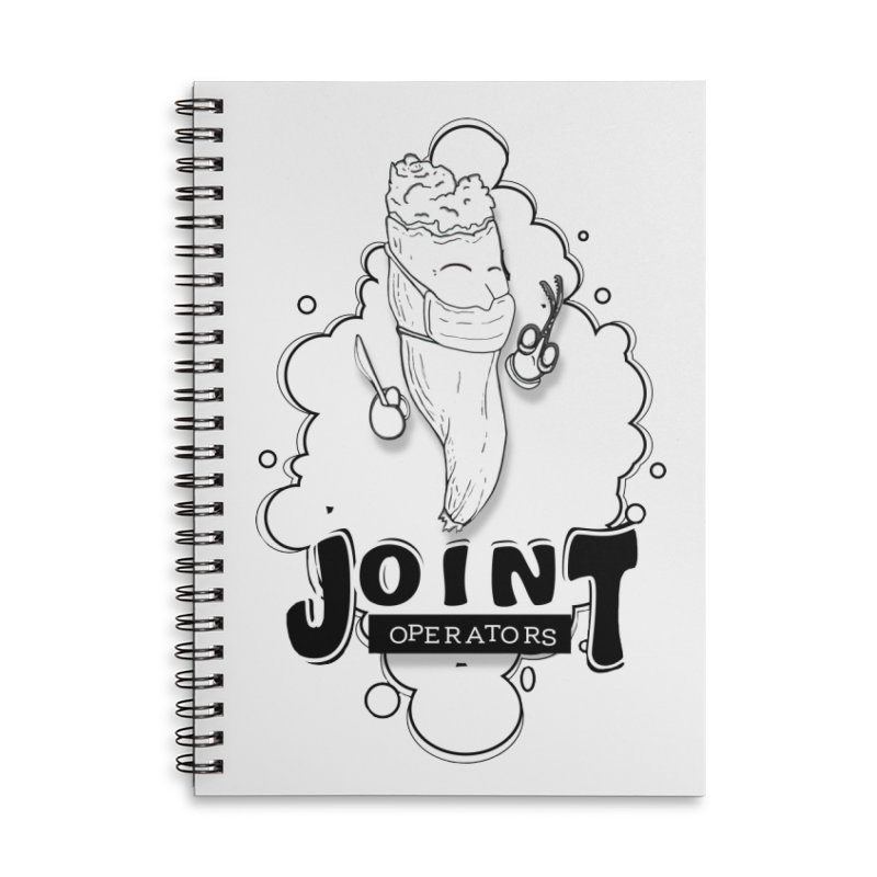 Joint Operator's Accessories Lined Spiral Notebook by MD Design Labs's Artist Shop