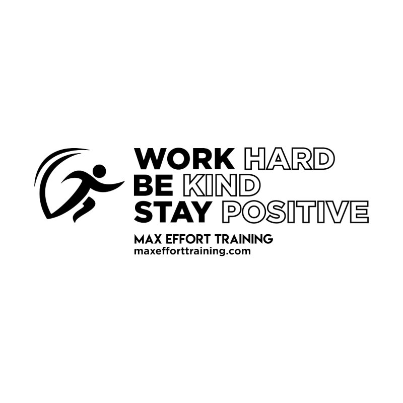 Work Hard/Be Kind (update) Kids T-Shirt by Max Effort Training