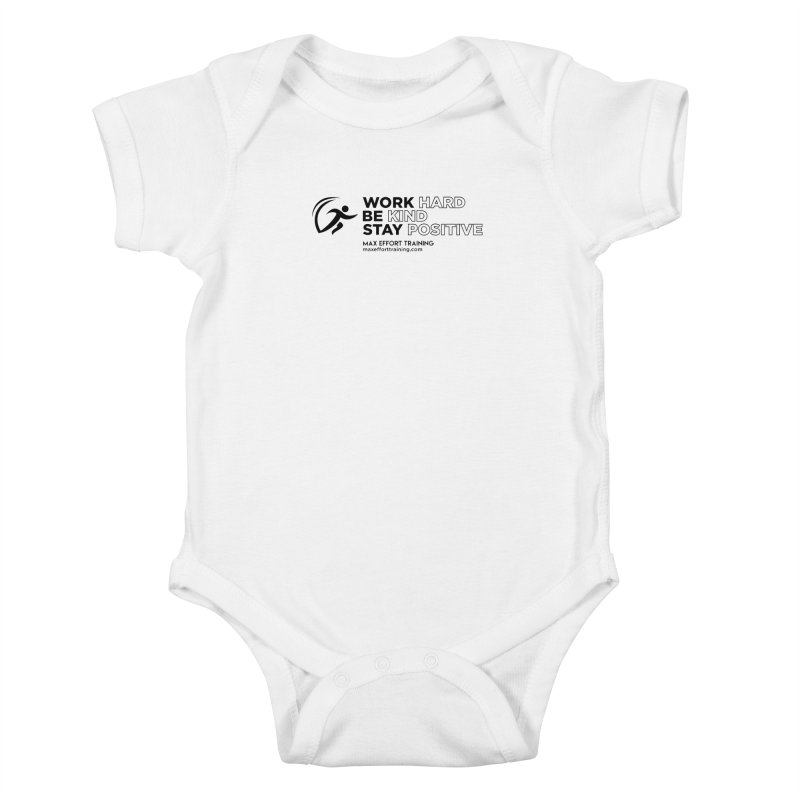 Work Hard/Be Kind (update) Kids Baby Bodysuit by Max Effort Training