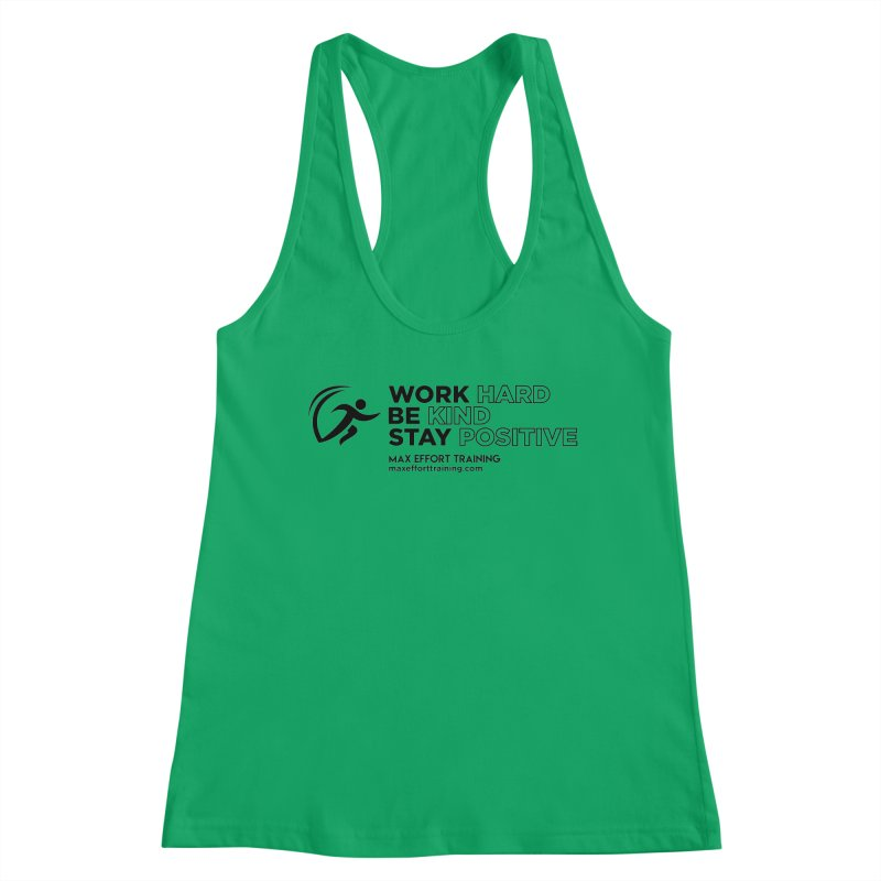 Work Hard/Be Kind (update) Women's Tank by Max Effort Training