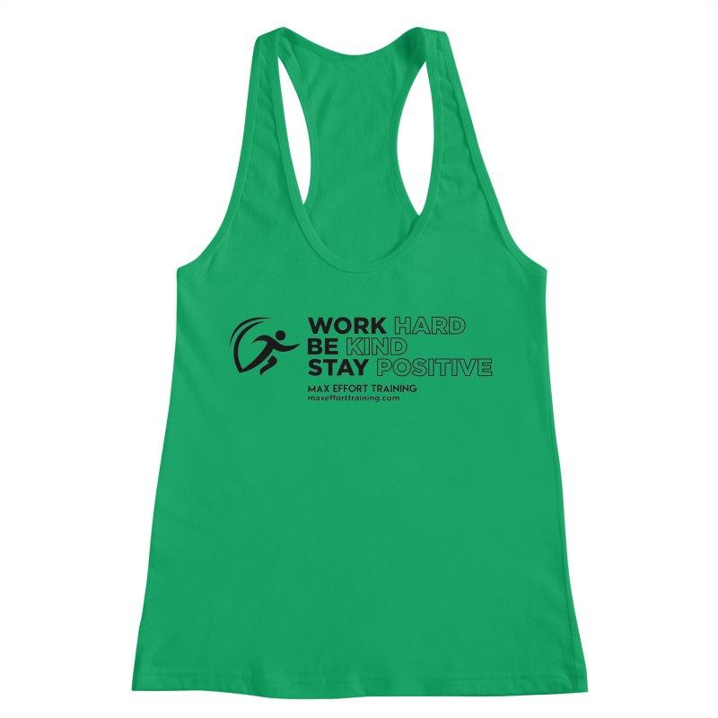 Work Hard/Be Kind (update) Women's Tank by Max Effort Training