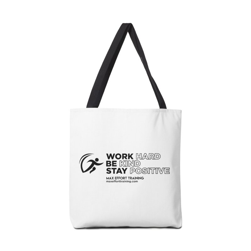Work Hard/Be Kind (update) Accessories Tote Bag Bag by Max Effort Training