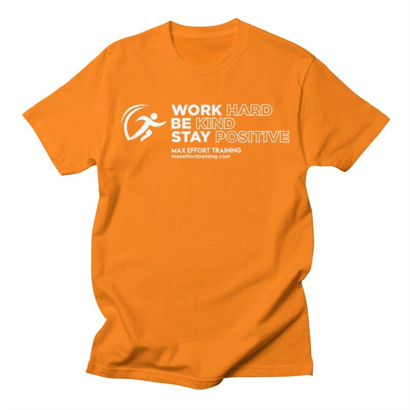Work Hard/Be Kind - White (update) Men's Regular T-Shirt by Max Effort Training