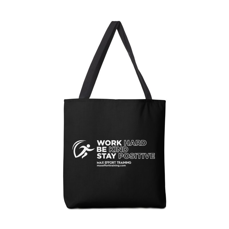 Work Hard/Be Kind - White (update) Accessories Tote Bag Bag by Max Effort Training