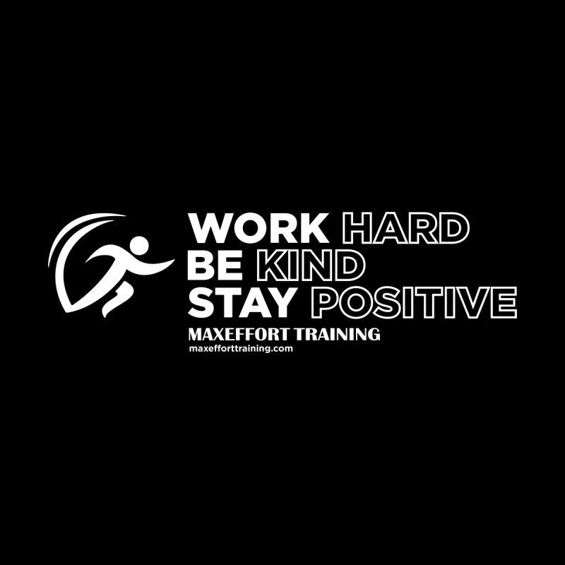 Work Hard/Be Kind - White (update) Women's Scoop Neck by Max Effort Training