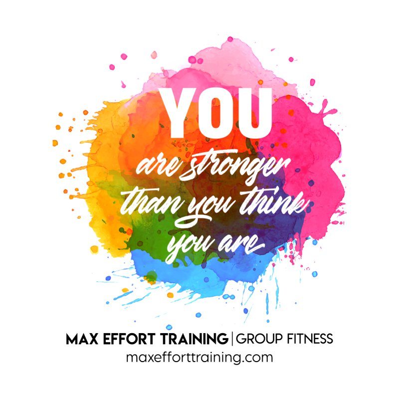 Stronger Than You Think Accessories Face Mask by Max Effort Training