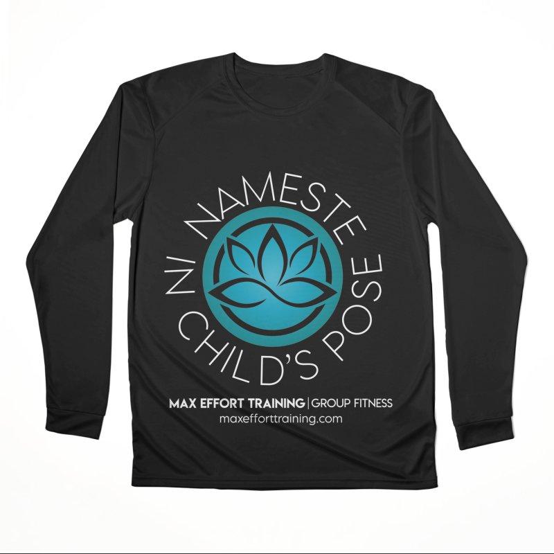 Namaste in Child's Pose Men's Longsleeve T-Shirt by Max Effort Training