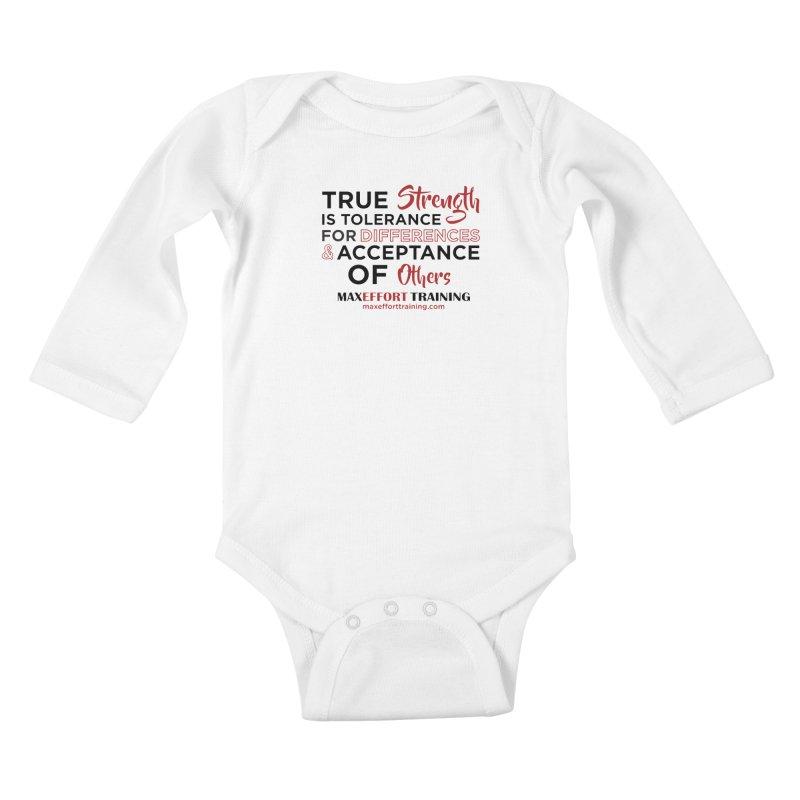 True Strength Kids Baby Longsleeve Bodysuit by Max Effort Training