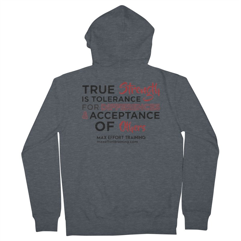 True Strength Men's French Terry Zip-Up Hoody by Max Effort Training