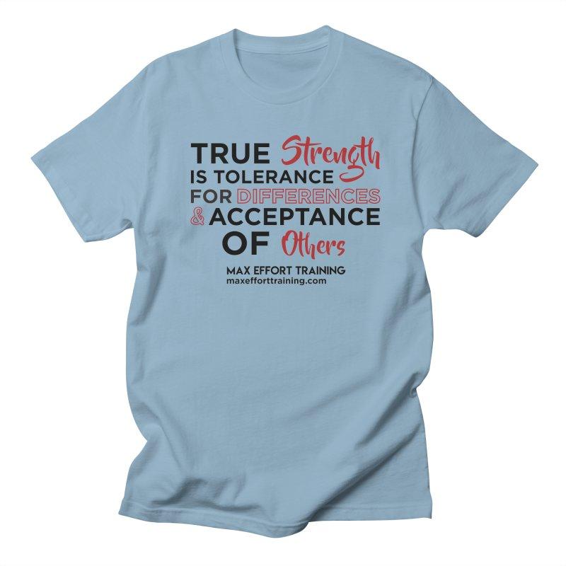 True Strength in Men's Regular T-Shirt Light Blue by Max Effort Training