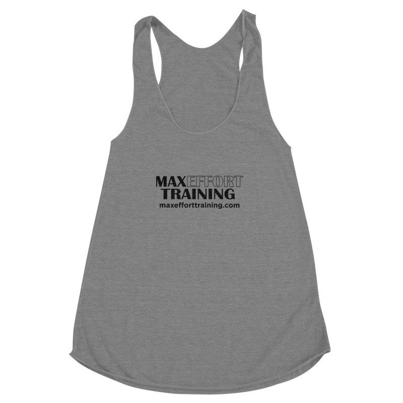 Max Effort Training Women's Racerback Triblend Tank by Max Effort Training