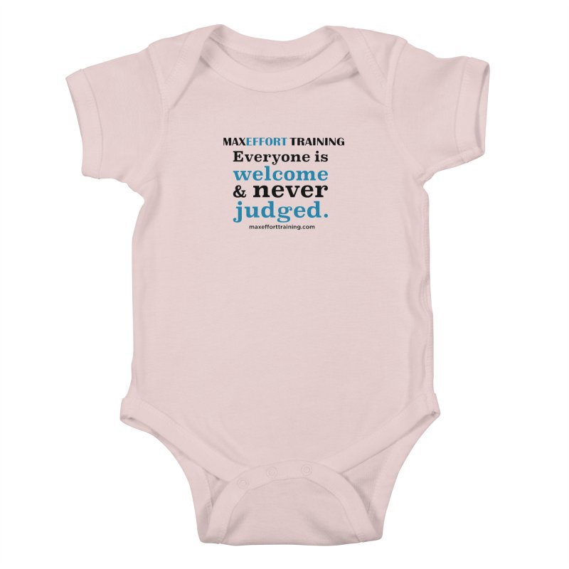 Everyone Is Welcome Kids Baby Bodysuit by Max Effort Training