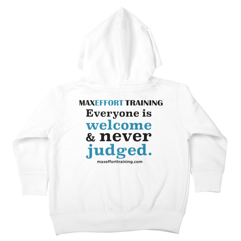 Everyone Is Welcome Kids Toddler Zip-Up Hoody by Max Effort Training
