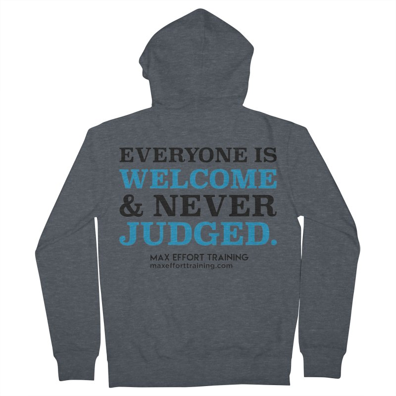 Everyone Is Welcome Men's French Terry Zip-Up Hoody by Max Effort Training