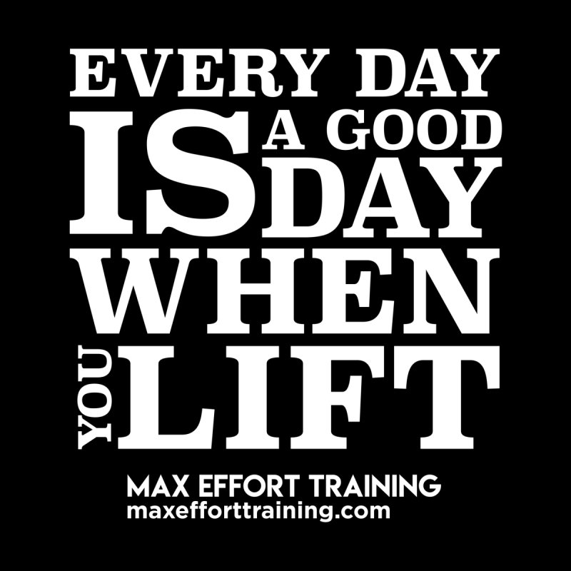 A Good Day To Lift - White Women's Pullover Hoody by Max Effort Training
