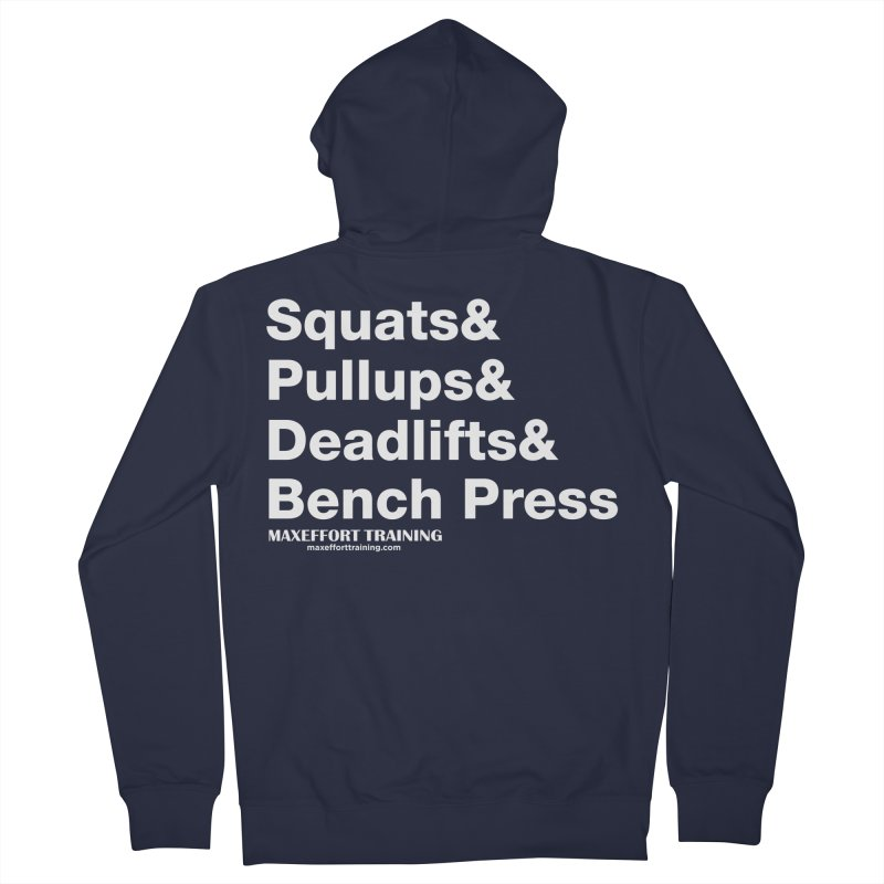Squats And... Men's French Terry Zip-Up Hoody by Max Effort Training