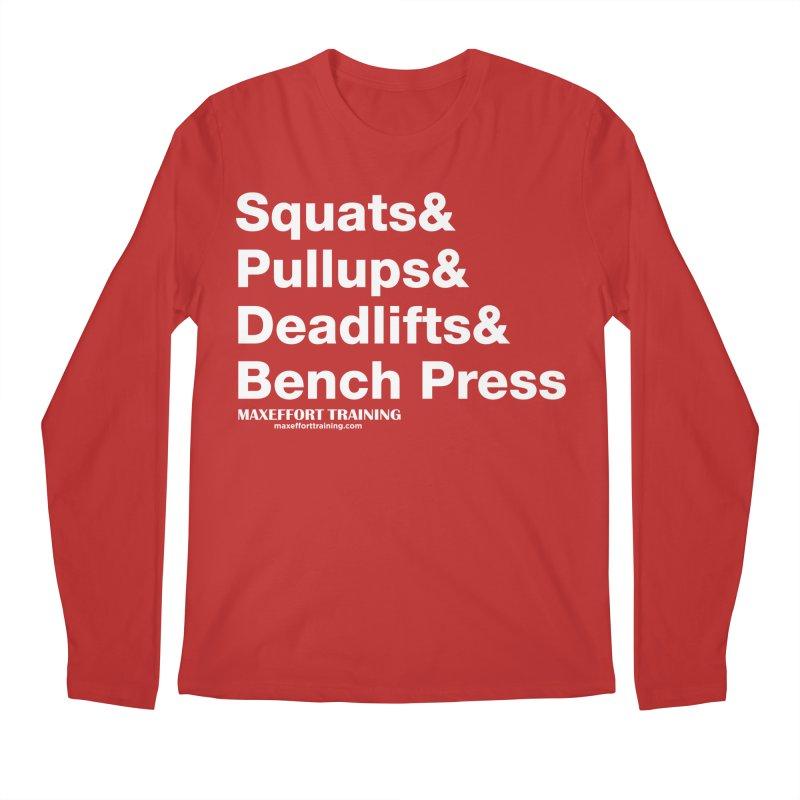 Squats And... Men's Regular Longsleeve T-Shirt by Max Effort Training