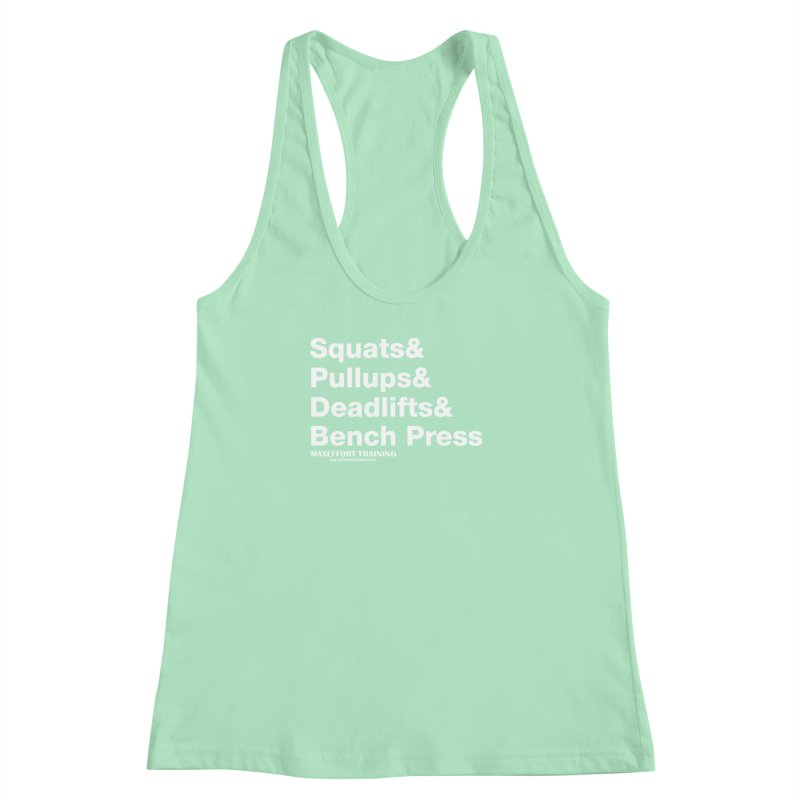 Squats And... Women's Racerback Tank by Max Effort Training