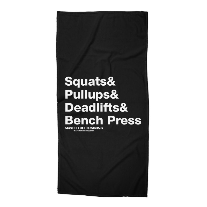 Squats And... Accessories Beach Towel by Max Effort Training
