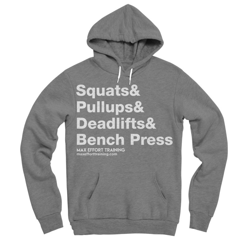 Squats And... Men's Sponge Fleece Pullover Hoody by Max Effort Training